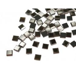 Kwadraciki szklane termoszkiełka 6x6mm Hematyt (Hematite)