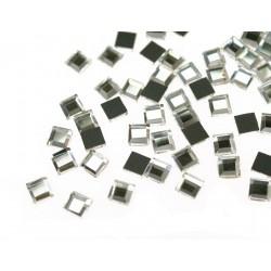 Kwadraciki szklane termoszkiełka 6x6mm Krystaliczny (Crystal)