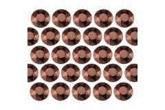 Octagon studs 2 mm Brown