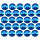 Octagon studs 2 mm Blue