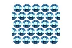 Octagon studs 2 mm Aquamarine