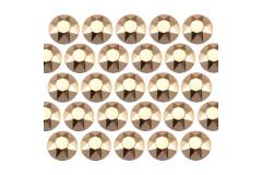 Octagon studs 2 mm Lt. Gold
