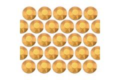 Octagon studs 2 mm Matt Gold