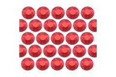 Octagon studs 2 mm Matt Red