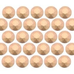 Octagon studs 2 mm Matt Lt. Gold