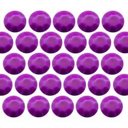 Octagon studs 2 mm Flu. Purple