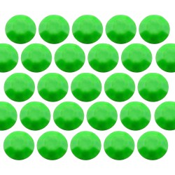 Octagon studs 3 mm Flu. Green