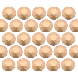 Octagon studs 3 mm Matt Lt. Gold