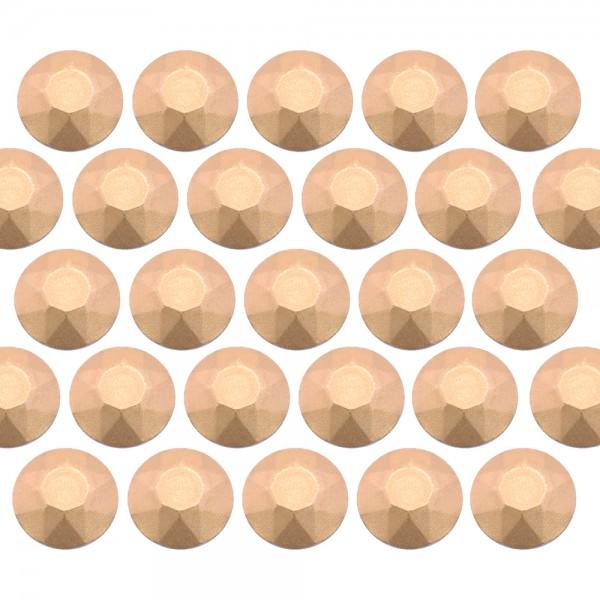 Octagon studs 3 mm Matt Lt. Gold