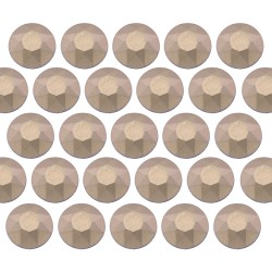 Octagon studs 3 mm Matt Classic Beige