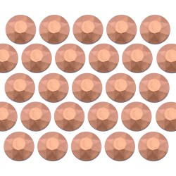 Octagon studs 3 mm Matt Copper