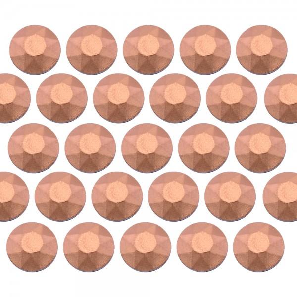Octagon studs 3 mm Matt Copper