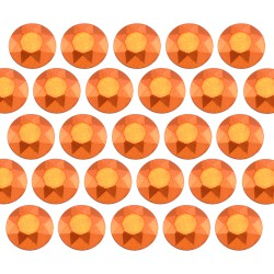 Octagon studs 3 mm Matt Orange