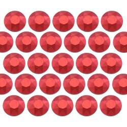 Octagon studs 3 mm Matt Red