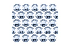 Octagon studs 3 mm Lt. Aquamarine