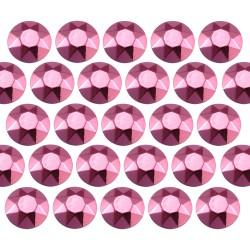 Octagon studs 3 mm Pink