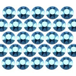 Octagon studs 3 mm Aquamarine