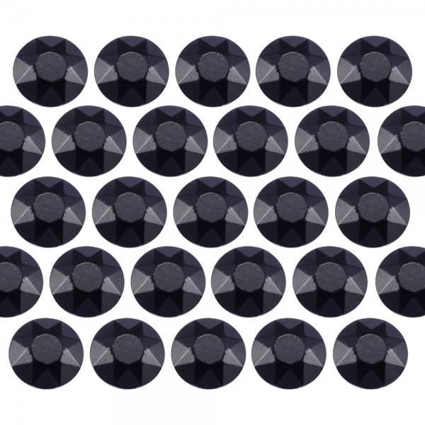 Octagon studs 4 mm Black