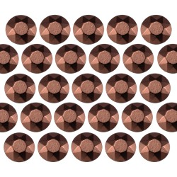 Octagon studs 4 mm Brown