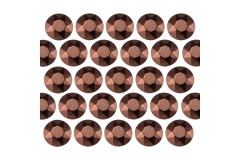 Octagon studs 4 mm Brown