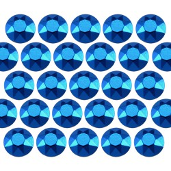 Octagon studs 4 mm Blue
