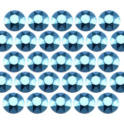 Octagon studs 4 mm Aquamarine