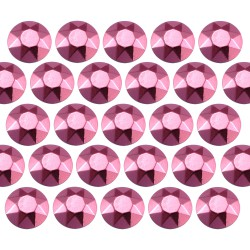 Octagon studs 4 mm Pink
