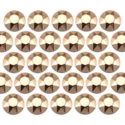 Octagon studs 4 mm Lt. Gold