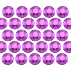 Octagon studs 4 mm Matt Purple