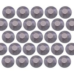 Octagon studs 4 mm Matt Gray