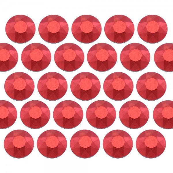 Octagon studs 4 mm Matt Red