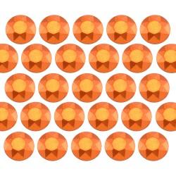 Octagon studs 4 mm Matt Orange