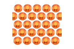 Octagon studs 4 mm Matt Orange