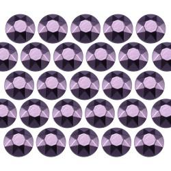 Octagon studs 4 mm Red Violet