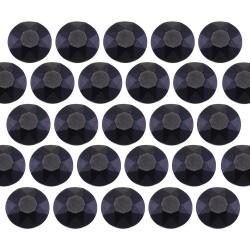 Octagon studs 4 mm Matt Black