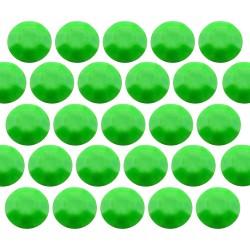 Octagon studs 4 mm Flu. Green