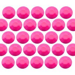 Octagon studs 4 mm Flu. Pink