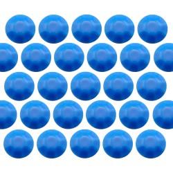 Octagon studs 4 mm Flu. Blue