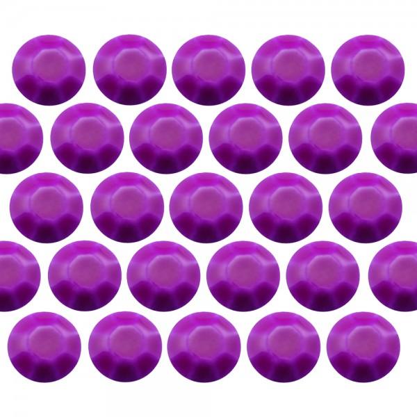 Octagon studs 4 mm Flu. Purple