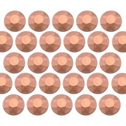 Octagon studs 4 mm Matt Copper
