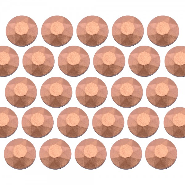 Octagon studs 4 mm Matt Copper