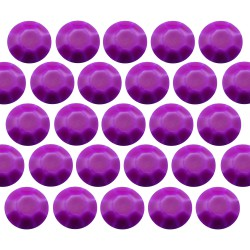 Octagon studs 6 mm Flu. Purple