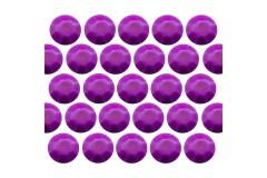 Octagon studs 6 mm Flu. Purple