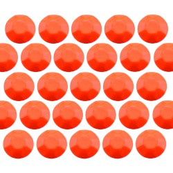 Octagon studs 6 mm Flu. Orange