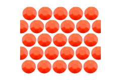 Octagon studs 6 mm Flu. Orange