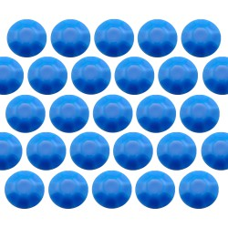Octagon studs 6 mm Flu.Blue