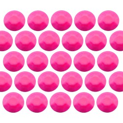Octagon studs 6 mm Flu. Pink