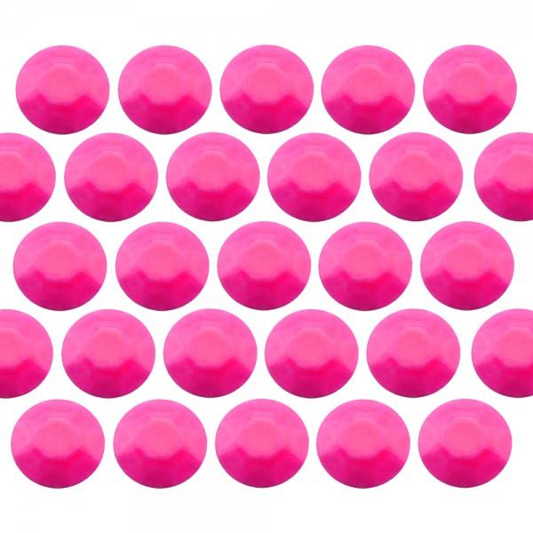 Octagon studs 6 mm Flu. Pink