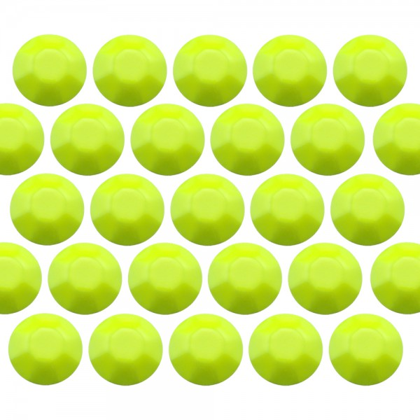 Octagon studs 6 mm Flu. Lime
