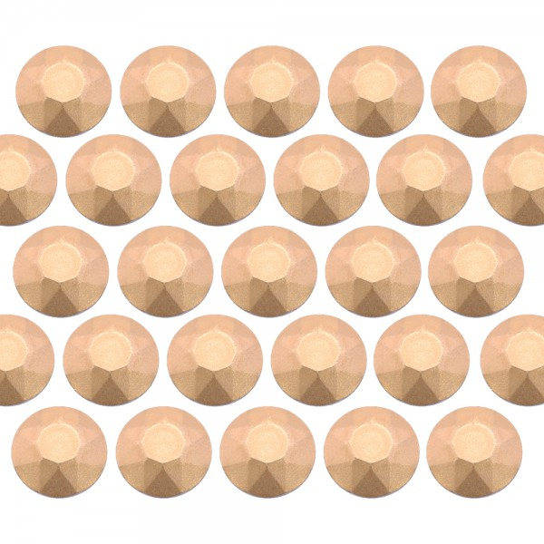 Octagon studs 6 mm Matt Lt. Gold